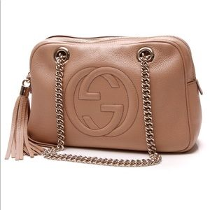 Gucci Soho Chain Shoulder Bag Purse in Camelia